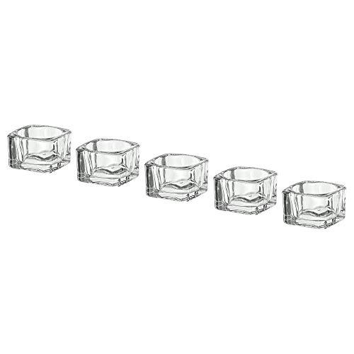 Ikea 002.591.41 Portavelas, Cristal Transparente