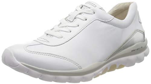 Gabor Shoes Rollingsoft, Scarpe da Ginnastica Basse Donna, Bianco (Weiss/Silber 51), 40 EU