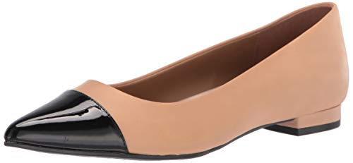 Aerosoles womens Farmingdale Ballet Flat, Nude Leather, 9.5 Wide US