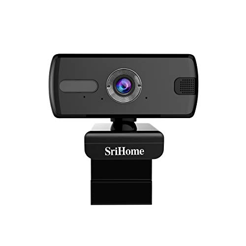 1080P PC Webcam con Microfono, PC Webcam Full HD, USB 2.0/3.0 Webcam Plug And Play per PC, Laptop, Streaming Live, Youtube, Giochi, videochiamate e conferenze