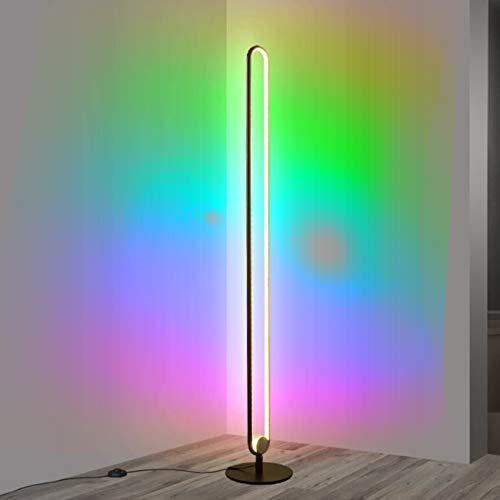 Ydshyth Led Stehlampe Dimmbare Mit Fernbedienung, Moderne Minimalistische Led Stehlampe, Umgebungslicht Für Wohnzimmer, Schlafzimmer, Spielzimmer, 20w