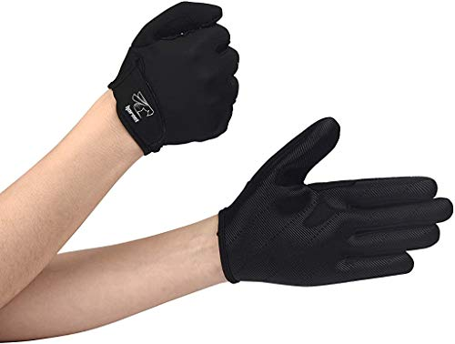 Hornet Watersports Full Finger Black Rowing Gloves with Non-Slip Grip Ideal for Paddling, Sailing, Fishing, Kayaking, Boating and More )