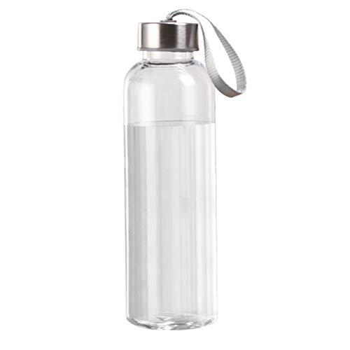 LIOOBO Botella de Agua a Prueba de Fugas Botella de Bebida Anti-caída Transparente portátil para Viajes de Deportes al Aire Libre (400 ml)