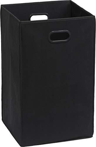 SimpleHouseware Foldable Closet Laundry Hamper Basket, Black