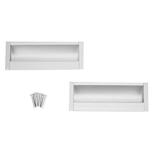 2 stks Aluminium Kast Meubels Trekt Zilver Meubels Handvat voor Badkamer Garderobe Hardware Keukenkastdeur
