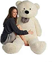 Mr. Bear Cares Giant Stuffed 78 inches (6.5 Feet) Teddy Bear Gift for a Loved One - Soft and Cuddly - White
