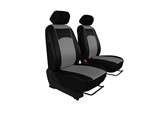 Autositzbezüge, Sitzbezüge Set, BUS 1+1 in Kunstleder passend für VIANO in diesem Angeboten GRAU (in 7 Farben bei anderen Angeboten erhältlich). Komplett besteht aus: Fahrersitz + Beifahrersitz + 2 Kopfstützen + Montagehäckchen