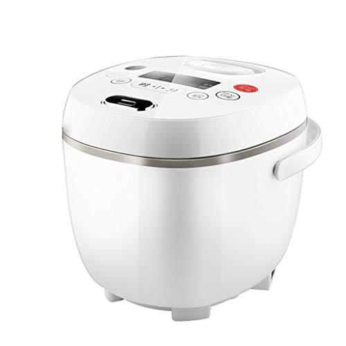 Multifunctionele kleine 2 liter rijstkoker, 400 W mini-rijstbereider met legeringsvrije binnenpan met antiaanbaklaag, elektrische rijstkoker met 24-uurs timer en draagbare handgreep.