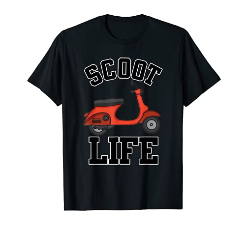 Regalo fresco de la vespa para los hombres y las mujeres divertido Scoot Life Motor Rider Camiseta