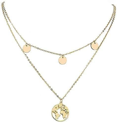 niuziyanfa Co.,ltd Collar de Perlas Collar con Estructura de Concha Multicapa Collar y Colgante para Mujeres Collar Colgante de Cadena para Mujeres Hombres