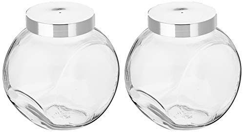 Productos para el hogar Viva:2tarros de Caramelos de 2L, Set de recipientes de Vidrio con Tapa Que se Pueden Utilizar como azucarero, Tarro para harina, Cereales, etc. (Incluye una Pala)