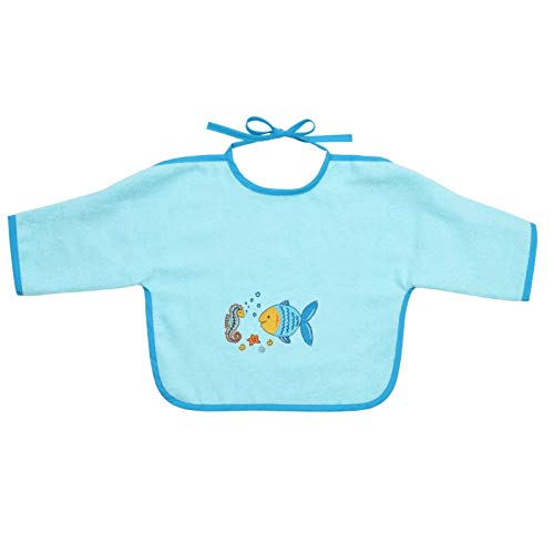 Mauz by wörner bébé poisson mint «bavoirs, serviettes de bain et gant de bain poncho, Vert menthe, Ärmellätzchen 68x34cm