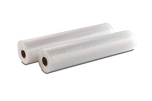 Solis 922.5 Vakuumierfolie, 2 Rollen, 30 x 600 cm, Tiefkühlen/ Vakuumgaren, Individuell Zuschneiden, Wiederverwendbar
