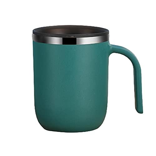 ERTERT Taza de café de Acero Inoxidable portátil Tazas de Bebida de Metal Tazas de Pared de Doble Pared Tazas de Vino de Agua Termal con Tapa para Oficina Hom (Color : Emerald)