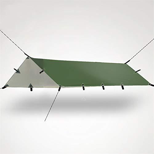Carpas Y Cenadores Para Patio Ultralight TARP al aire libre camping supervivencia sol cobertizo toldo toldo recubrimiento plata pergola impermeable playa carpa ( Color : Army green , Size : 3*3M )