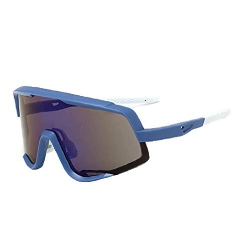 PJKKawesome Gafas De Deportivas Protección Uv400, Gafas De Ciclismo con 3 Lentes Intercambiables, Gafas Protectoras De Ojos Aire Libre con Marco Superlight para Ciclismo Azul