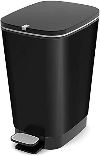 Baymi Rectangular Negro cesto de Basura - Cubo de Basura 30L (265 mm, 405 mm, 450 mm)