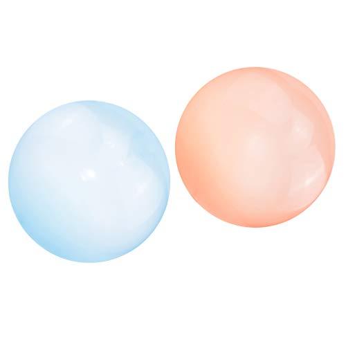 Milageto 2pcs Globo de Bola de Burbuja Suave Divertido Increíble Estiramiento Decoración de Cumpleaños Juguetes para Niños