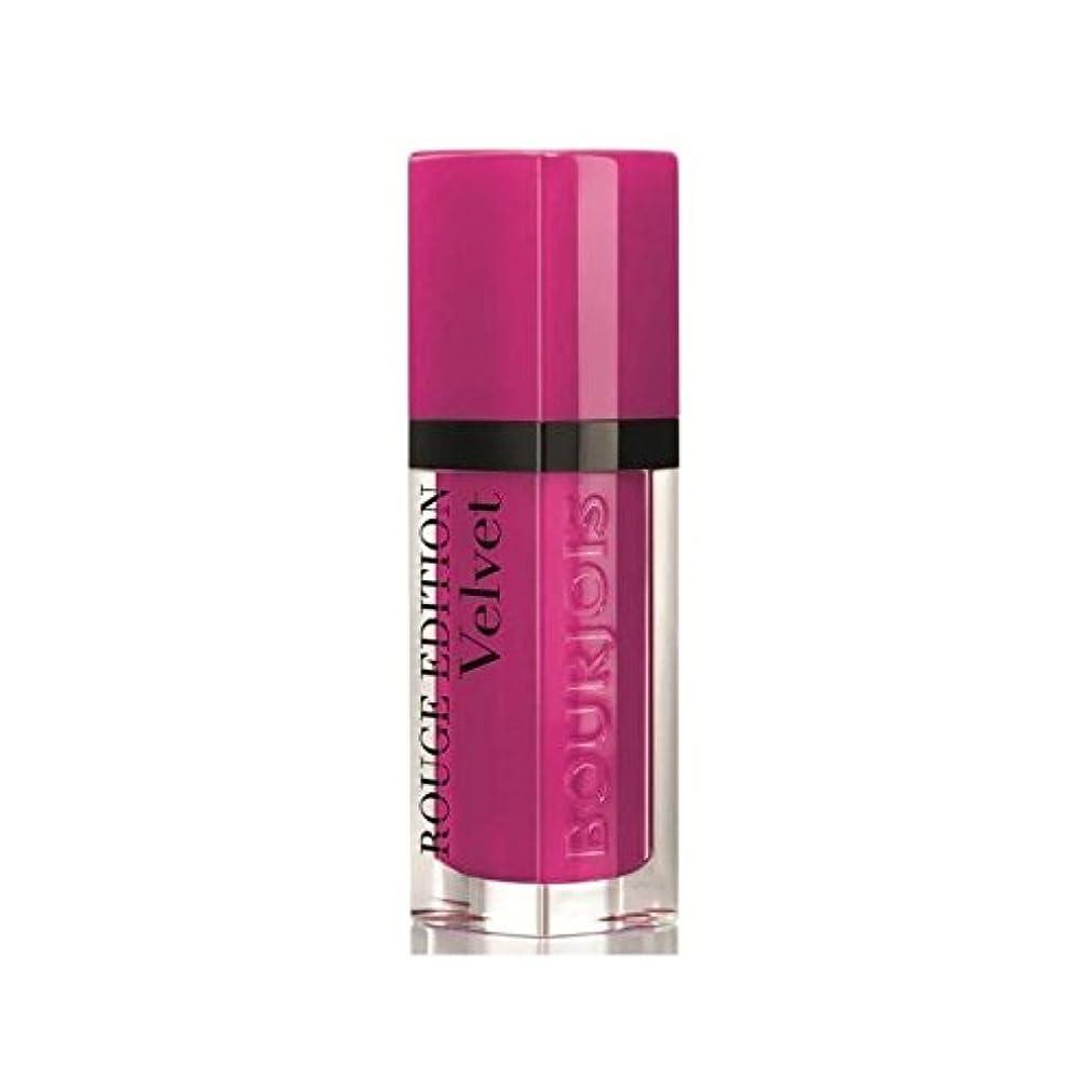 大洪水回転カブブルジョワルージュ版ベルベットの口紅ピンクピンポン6 x4 - Bourjois Rouge Edition Velvet lipstick Pink Pong 6 (Pack of 4) [並行輸入品]