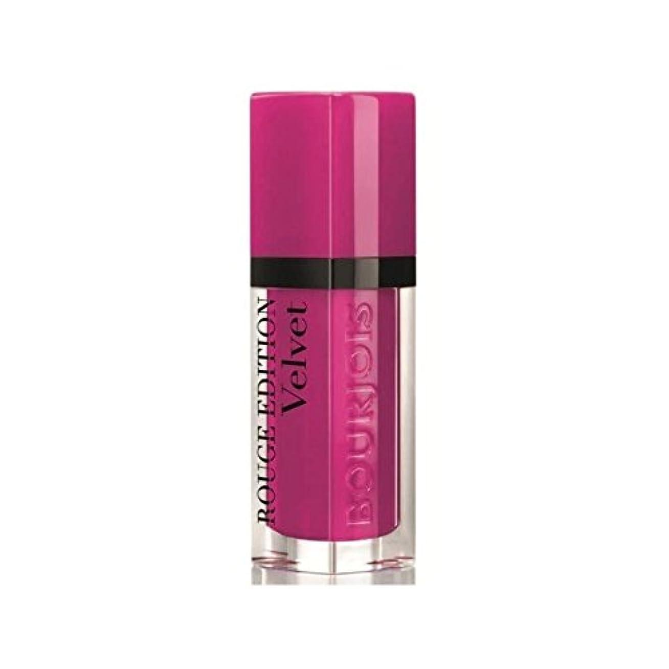 乗ってメトリックパイロットBourjois Rouge Edition Velvet lipstick Pink Pong 6 (Pack of 6) - ブルジョワルージュ版ベルベットの口紅ピンクピンポン6 x6 [並行輸入品]