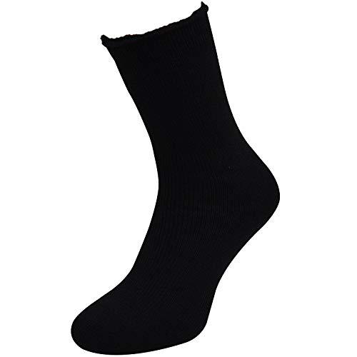 Qano 2 Paar Mega Thermo Winter Socken bis - 25 Grad Kälte schwarz (35-38)