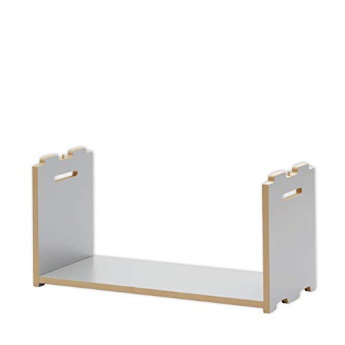 Tojo Hochstapler | Erweiterungsmodul für modulares Regalsystem | Silber | Anbaumodul für EIN individuelles Wandregal/Bücherregal/CD Regal | MDF Regal