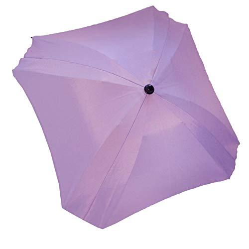 Los bebés-Dreams sombrilla para carrito de bebé cuadrado ø74cm UV-schutz50 + protector solar de pantalla toldo lila