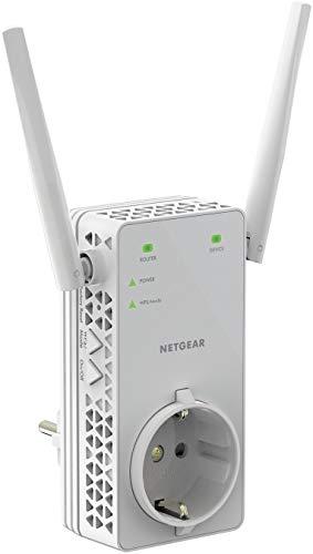 Netgear EX6130 - Amplificador Señal WiFi AC1200, Repetidor WiFi de Enchufe Doble Banda, Puerto LAN, Compatibilidad Universal