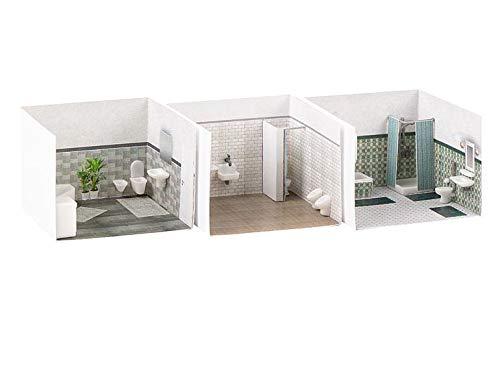 Faller FA180355 Badezimmereinrichtungen Modellbausatz, verschieden