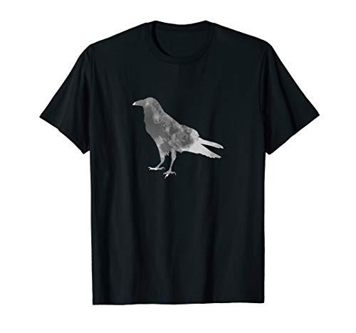 Raben Silhouette Mond für Halloween Hexen T-Shirt