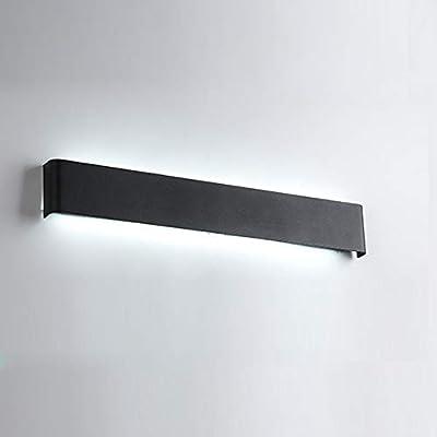LED 44 w Black Iron Wall Sconce, Long Shade Modern Wall Light Fixrture Bathroom Vanity Lighting for Bedroom Aisle-110cm White Light