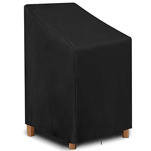 KING DO WAY Copertura Impermeabile per Sedie Impilabili da Giardino, Copertuta Protettiva per Sedie da Esterno (64 x 64 x 120 / 70cm)