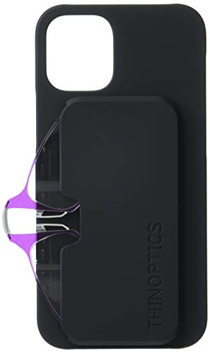 ThinOptics Unisex-Erwachsene I12BMINIHPUR Lesebrille, Schutzhülle für iPhone 12 Mini (schlankes Design, mit 6,3 cm (2,5 Zoll), Violett, 2.5X (21er Pack)