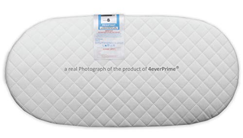 Baby Infant Classic Foam Mattress for Moses Basket, Removable Water-Resistant Quilted Cover - Various Sizes - Made in The UK (75 x 33 x 4 cm)