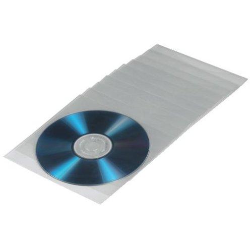 Hama CD-/DVD-/Blu-ray Schutzhüllen (Slim-Design, Sleeve aus Kunststoff, 50 Stück), transparent