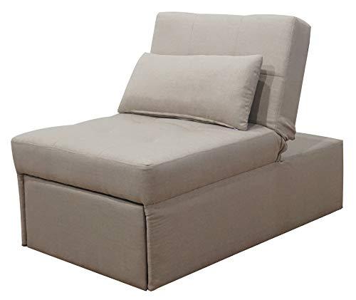 ITALFROM Divano Letto Sofa Bed Beige DIVANI 70x112x80h DIVANETTI Divano Letto 1 Piazza