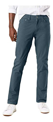 Dockers Men's Straight Fit Ultimate Jean Cut Pants, Cool Slate, 33W x 30L
