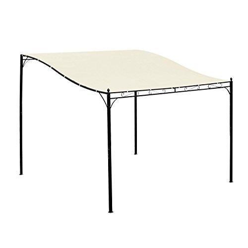 Outsunny Gazebo Tenda Parasole Con Telo in Poliestere Impermeabile, Crema, 297 x 297 cm