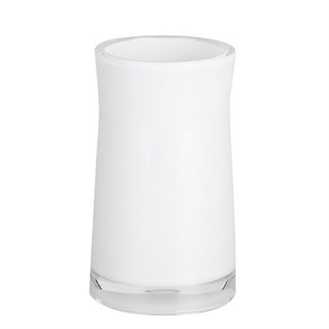 Spirella Zahnputzbecher Zahnbürstenhalter Sydney 6,5x12,5 cm Weiß