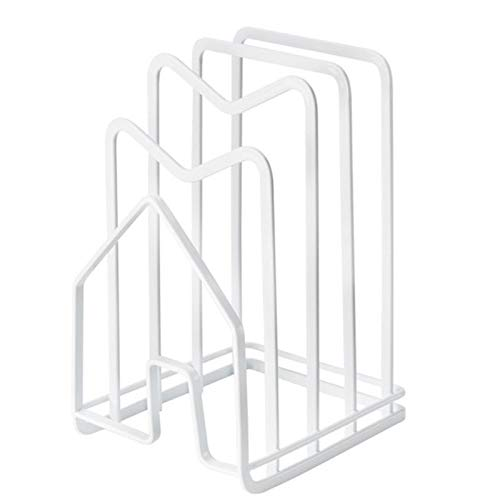 PPuujia Multi Layer Chopping Cutting Board Holder Pot Lid Organizer Rack Shelf Stand Kitchen Storage Holder Space Saving (Color : White)