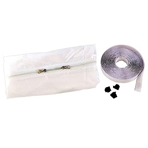 Piastra in tessuto di tenuta per finestra con blocco dell'aria universale 4 m Kit di sigillatura per finestra di uscita del condizionatore di aria calda per condizionatore d'aria mobile