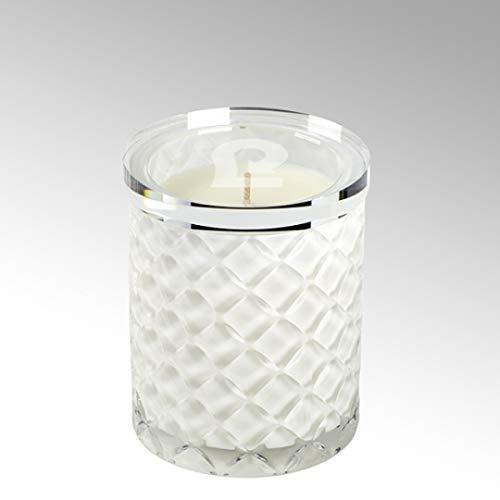 Lambert - Duftkerze Enna Im Glasgefäß - Weiß - H10 D8 cm - Parfüm Atlantic Breeze - 1 Stück