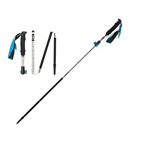 NLDSZ-Y Bâton de Marche Ultra-léger 100% Fibre de Carbone, Longueur de Pliage 30 cm, Facile à Ranger dans Le Sac à Dos - adapté à la randonnée, randonnée, 95cm