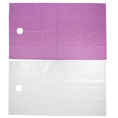 Feuille de couverture de Massage hôtel SPA couverture de Table de traitement fournitures de Massage drap de lit de Salon de beauté doux pour(White+purple)