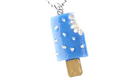 Miniblings Collana con ciondolo a forma di uovo al cavallo, 80 cm, colore blu – fatto a mano –...