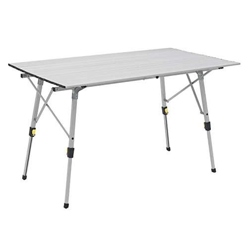 Outwell Canmore Mesa Plegable, Unisex Adulto, Plata, Large