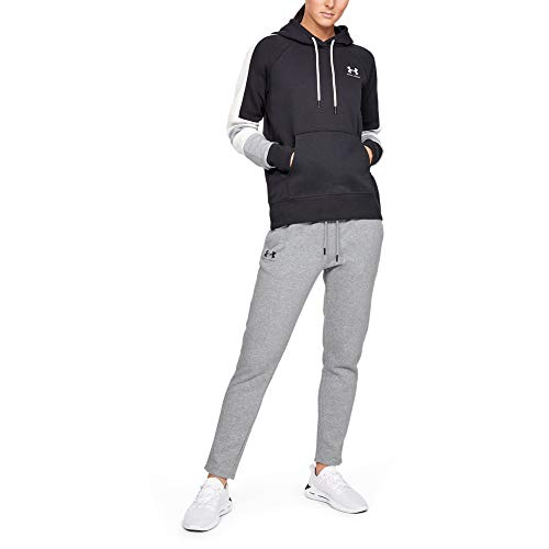 Under Armour Rival Fleece Open Hem, Pantaloni Donna, Grigio, MD