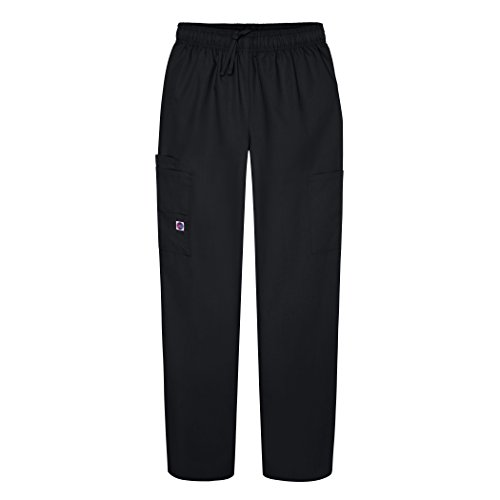 Sivvan Women's Scrubs Drawstring Cargo Trousers - S8200 - Black - XL