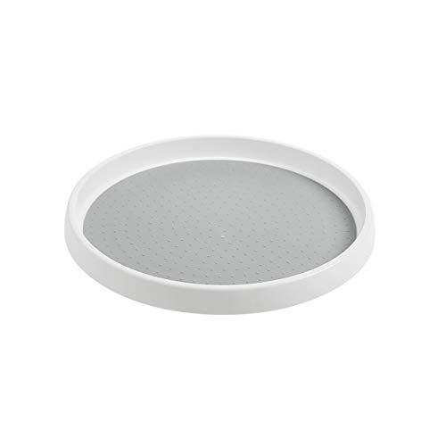 Shinepine Küchen Organizer, Lazy Susan mit 30 cm Durchmesser, Drehteller für den Vorratsschrank und Kühlschrank, Drehbarer Gewürzhalter aus BPA-freiem Kunststoff für Vorratsdosen