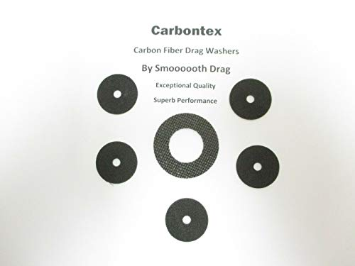 Quantum Reel Part Cabo 50 CSP50PTS (6) Smooth Drag Carbontex Drag Washers #SDQ1